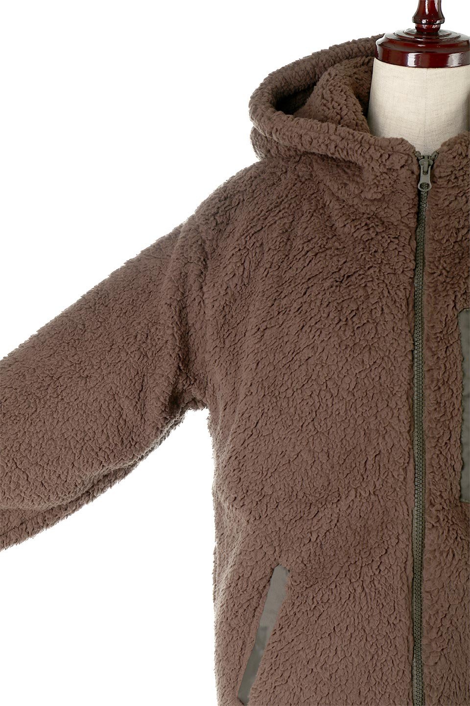 ShearlingFleeceHoodedJacketボアフリース・フード付きジャケット大人カジュアルに最適な海外ファッションのothers(その他インポートアイテム)のアウターやジャケット。もこもこボアのあったかフリースジャケット。程よいミドル丈がボトムスを選ばずコーデを楽しむことができるニュアンスカラーの万能アウターはインナーを変えて秋口から真冬にかけて大活躍。/main-19