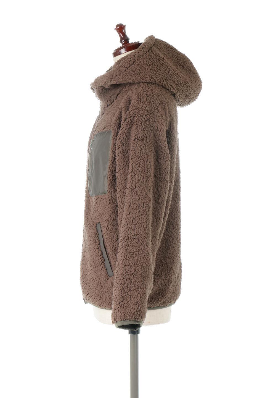 ShearlingFleeceHoodedJacketボアフリース・フード付きジャケット大人カジュアルに最適な海外ファッションのothers(その他インポートアイテム)のアウターやジャケット。もこもこボアのあったかフリースジャケット。程よいミドル丈がボトムスを選ばずコーデを楽しむことができるニュアンスカラーの万能アウターはインナーを変えて秋口から真冬にかけて大活躍。/main-7