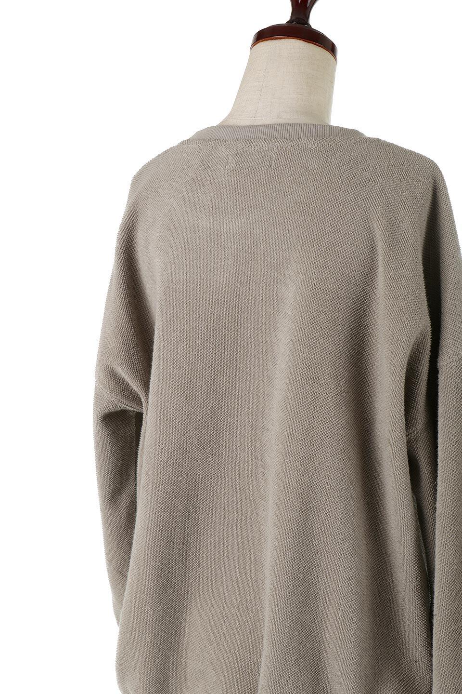 TurnOverSweatTop裏地使い・スピンドル付きスウェット大人カジュアルに最適な海外ファッションのothers(その他インポートアイテム)のトップスやカットソー。スウェットの裏地を活かしたオーバーサイズなスウェット。無地でシンプルなデザインながら素材感の面白さが魅力なアイテム。/main-12