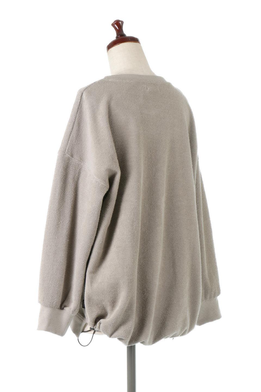 TurnOverSweatTop裏地使い・スピンドル付きスウェット大人カジュアルに最適な海外ファッションのothers(その他インポートアイテム)のトップスやカットソー。スウェットの裏地を活かしたオーバーサイズなスウェット。無地でシンプルなデザインながら素材感の面白さが魅力なアイテム。/main-3