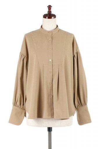 海外ファッションや大人カジュアルに最適なインポートセレクトアイテムのEco Suede Buzam Panel Shirt エコスエード・切り替えブザムシャツ