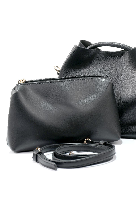 meliebiancoのAnnie(Black)ポーチ付き・ミニハンドバッグ/海外ファッション好きにオススメのインポートバッグとかばん、MelieBianco(メリービアンコ)のバッグやショルダーバッグ。ストラップを付ければショルダーバッグにもなる2Wayタイプのミニハンドバッグ。小さなボディの中には同色のポーチが付属します。/main-13