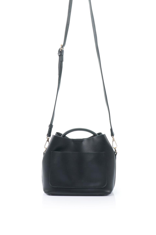 meliebiancoのAnnie(Black)ポーチ付き・ミニハンドバッグ/海外ファッション好きにオススメのインポートバッグとかばん、MelieBianco(メリービアンコ)のバッグやショルダーバッグ。ストラップを付ければショルダーバッグにもなる2Wayタイプのミニハンドバッグ。小さなボディの中には同色のポーチが付属します。/main-4