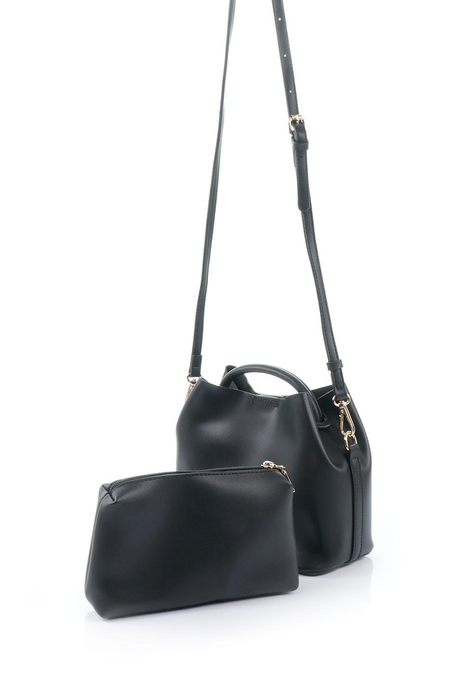 meliebiancoのAnnie(Black)ポーチ付き・ミニハンドバッグ/海外ファッション好きにオススメのインポートバッグとかばん、MelieBianco(メリービアンコ)のバッグやショルダーバッグ。ストラップを付ければショルダーバッグにもなる2Wayタイプのミニハンドバッグ。小さなボディの中には同色のポーチが付属します。/main-5