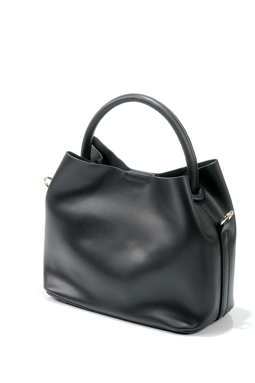 meliebiancoのAnnie(Black)ポーチ付き・ミニハンドバッグ/海外ファッション好きにオススメのインポートバッグとかばん、MelieBianco(メリービアンコ)のバッグやショルダーバッグ。ストラップを付ければショルダーバッグにもなる2Wayタイプのミニハンドバッグ。小さなボディの中には同色のポーチが付属します。/main-6