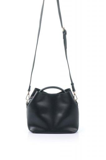 海外ファッションや大人カジュアルのためのインポートバッグ、かばんmelie bianco(メリービアンコ)のAnnie (Black) ポーチ付き・ミニハンドバッグ