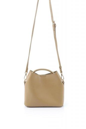 海外ファッションや大人カジュアルのためのインポートバッグ、かばんmelie bianco(メリービアンコ)のAnnie (Tan) ポーチ付き・ミニハンドバッグ