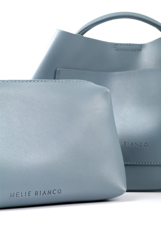 meliebiancoのAnnie(Slate)ポーチ付き・ミニハンドバッグ/海外ファッション好きにオススメのインポートバッグとかばん、MelieBianco(メリービアンコ)のバッグやショルダーバッグ。ストラップを付ければショルダーバッグにもなる2Wayタイプのミニハンドバッグ。小さなボディの中には同色のポーチが付属します。/main-13