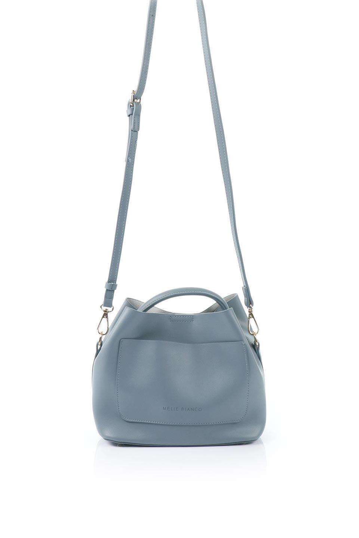 meliebiancoのAnnie(Slate)ポーチ付き・ミニハンドバッグ/海外ファッション好きにオススメのインポートバッグとかばん、MelieBianco(メリービアンコ)のバッグやショルダーバッグ。ストラップを付ければショルダーバッグにもなる2Wayタイプのミニハンドバッグ。小さなボディの中には同色のポーチが付属します。/main-4