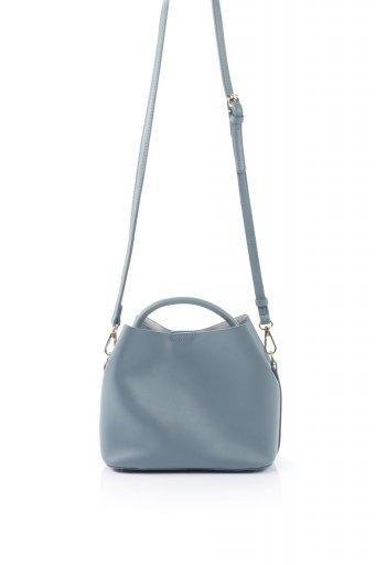 海外ファッションや大人カジュアルのためのインポートバッグ、かばんmelie bianco(メリービアンコ)のAnnie (Slate) ポーチ付き・ミニハンドバッグ