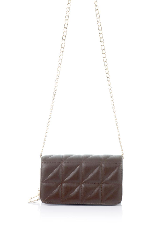 meliebiancoのBrianna(Chocolate)キルティングレザー・ミニショルダーバッグ/海外ファッション好きにオススメのインポートバッグとかばん、MelieBianco(メリービアンコ)のバッグやショルダーバッグ。メインの収納部分が2つある整理上手なミニショルダーバッグ。両サイドにもポケットがあり、ちょっとしたオーガナイザーとしても活躍するバッグです。