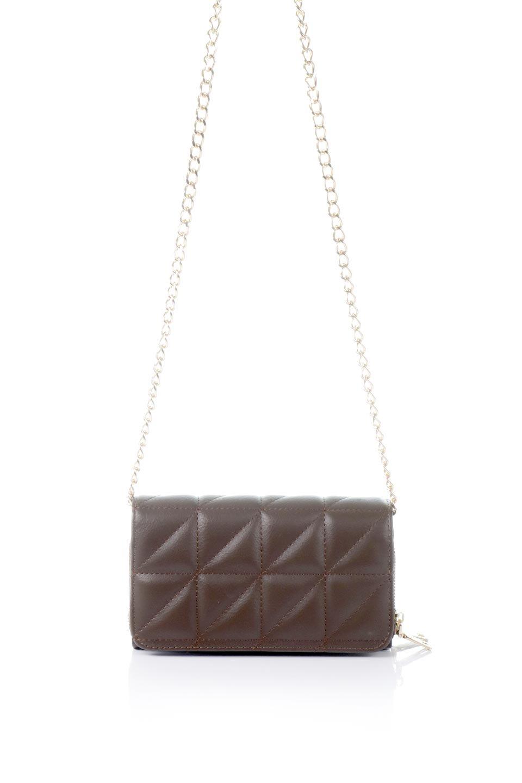 meliebiancoのBrianna(Chocolate)キルティングレザー・ミニショルダーバッグ/海外ファッション好きにオススメのインポートバッグとかばん、MelieBianco(メリービアンコ)のバッグやショルダーバッグ。メインの収納部分が2つある整理上手なミニショルダーバッグ。両サイドにもポケットがあり、ちょっとしたオーガナイザーとしても活躍するバッグです。/main-4