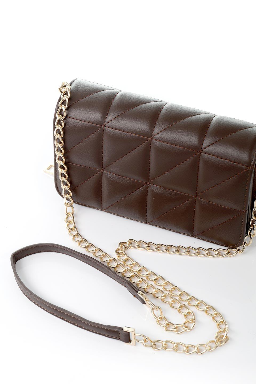 meliebiancoのBrianna(Chocolate)キルティングレザー・ミニショルダーバッグ/海外ファッション好きにオススメのインポートバッグとかばん、MelieBianco(メリービアンコ)のバッグやショルダーバッグ。メインの収納部分が2つある整理上手なミニショルダーバッグ。両サイドにもポケットがあり、ちょっとしたオーガナイザーとしても活躍するバッグです。/main-7