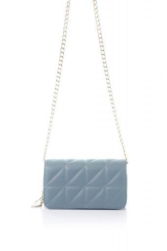 海外ファッションや大人カジュアルのためのインポートバッグ、かばんmelie bianco(メリービアンコ)のBrianna (Slate) キルティングレザー・ミニショルダーバッグ