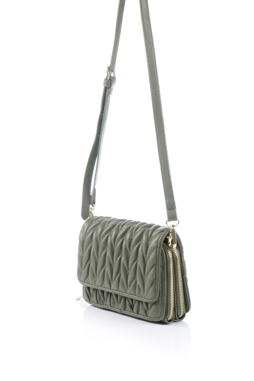 meliebiancoのGiselle(Moss)ブレイドキルティング・ミニショルダーバッグ/海外ファッション好きにオススメのインポートバッグとかばん、MelieBianco(メリービアンコ)のバッグやショルダーバッグ。編み込み状のキルティングレザーが美しいショルダーバッグ。ソフトで滑らかなビーガンレザーのキルティングはしっとりと最高の手触り。/main-1
