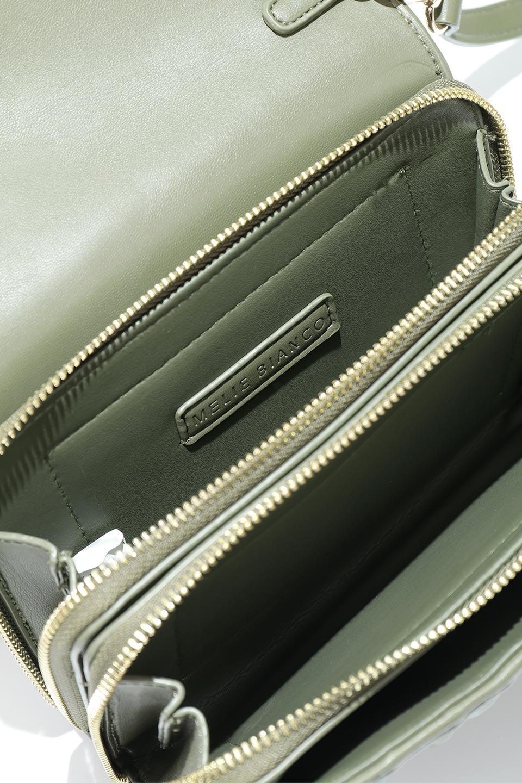 meliebiancoのGiselle(Moss)ブレイドキルティング・ミニショルダーバッグ/海外ファッション好きにオススメのインポートバッグとかばん、MelieBianco(メリービアンコ)のバッグやショルダーバッグ。編み込み状のキルティングレザーが美しいショルダーバッグ。ソフトで滑らかなビーガンレザーのキルティングはしっとりと最高の手触り。/main-16