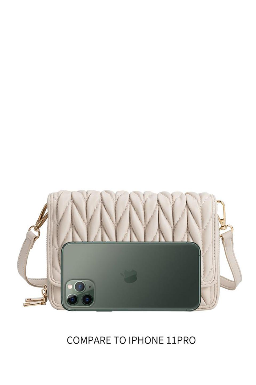 meliebiancoのGiselle(Moss)ブレイドキルティング・ミニショルダーバッグ/海外ファッション好きにオススメのインポートバッグとかばん、MelieBianco(メリービアンコ)のバッグやショルダーバッグ。編み込み状のキルティングレザーが美しいショルダーバッグ。ソフトで滑らかなビーガンレザーのキルティングはしっとりと最高の手触り。/main-18