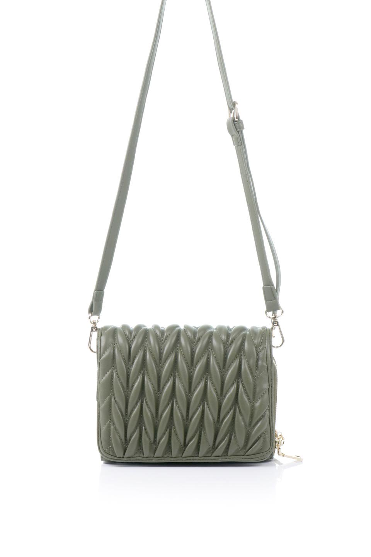 meliebiancoのGiselle(Moss)ブレイドキルティング・ミニショルダーバッグ/海外ファッション好きにオススメのインポートバッグとかばん、MelieBianco(メリービアンコ)のバッグやショルダーバッグ。編み込み状のキルティングレザーが美しいショルダーバッグ。ソフトで滑らかなビーガンレザーのキルティングはしっとりと最高の手触り。/main-4