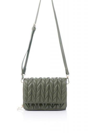 海外ファッションや大人カジュアルのためのインポートバッグ、かばんmelie bianco(メリービアンコ)のGiselle (Moss) ブレイドキルティング・ミニショルダーバッグ