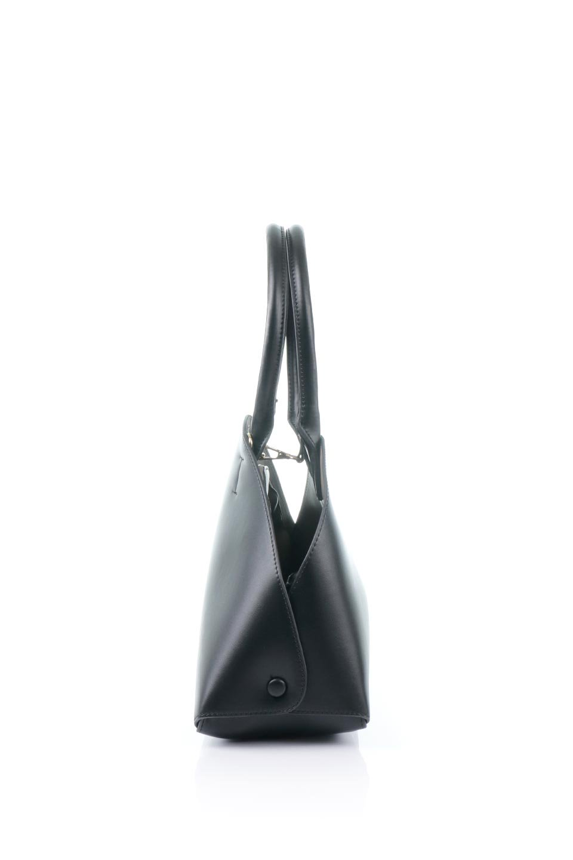 meliebiancoのAusten(Black)ポーチ付き・ラウンドハンドバッグ/海外ファッション好きにオススメのインポートバッグとかばん、MelieBianco(メリービアンコ)のバッグやショルダーバッグ。ミニマルデザインのポーチ付きハンドバッグ。シンプルでコーデの邪魔をしない上品な雰囲気を醸し出すアイテムです。/main-2