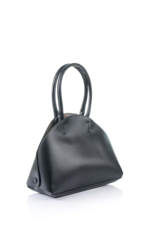 meliebiancoのAusten(Black)ポーチ付き・ラウンドハンドバッグ/海外ファッション好きにオススメのインポートバッグとかばん、MelieBianco(メリービアンコ)のバッグやショルダーバッグ。ミニマルデザインのポーチ付きハンドバッグ。シンプルでコーデの邪魔をしない上品な雰囲気を醸し出すアイテムです。/main-3