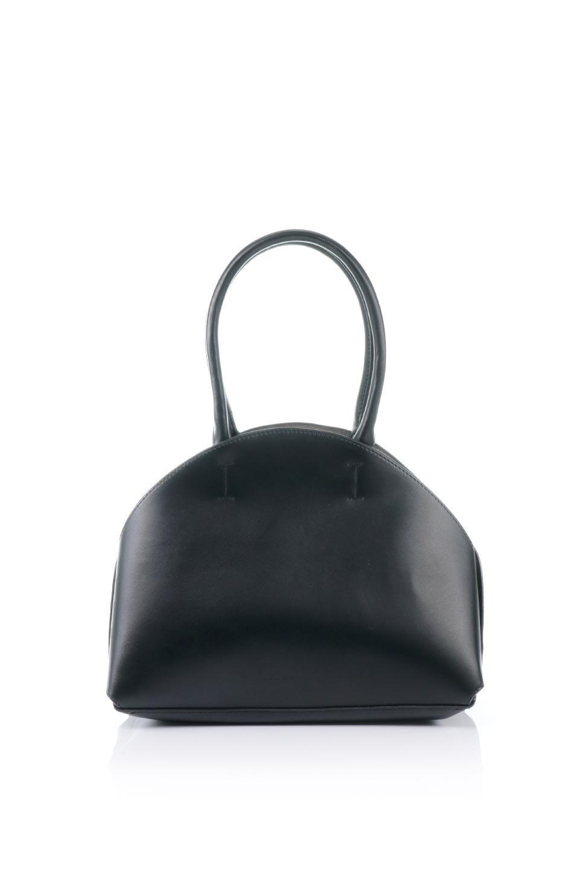 meliebiancoのAusten(Black)ポーチ付き・ラウンドハンドバッグ/海外ファッション好きにオススメのインポートバッグとかばん、MelieBianco(メリービアンコ)のバッグやショルダーバッグ。ミニマルデザインのポーチ付きハンドバッグ。シンプルでコーデの邪魔をしない上品な雰囲気を醸し出すアイテムです。/main-4