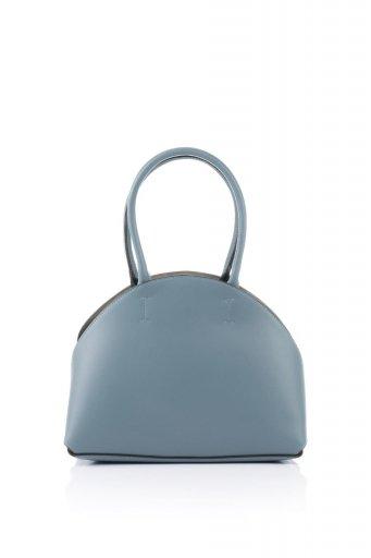 海外ファッションや大人カジュアルのためのインポートバッグ、かばんmelie bianco(メリービアンコ)のAusten (Slate) ポーチ付き・ ラウンドハンドバッグ