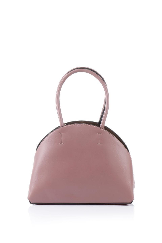 meliebiancoのAusten(Rose)ポーチ付き・ラウンドハンドバッグ/海外ファッション好きにオススメのインポートバッグとかばん、MelieBianco(メリービアンコ)のバッグやショルダーバッグ。ミニマルデザインのポーチ付きハンドバッグ。シンプルでコーデの邪魔をしない上品な雰囲気を醸し出すアイテムです。