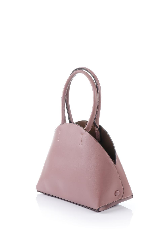 meliebiancoのAusten(Rose)ポーチ付き・ラウンドハンドバッグ/海外ファッション好きにオススメのインポートバッグとかばん、MelieBianco(メリービアンコ)のバッグやショルダーバッグ。ミニマルデザインのポーチ付きハンドバッグ。シンプルでコーデの邪魔をしない上品な雰囲気を醸し出すアイテムです。/main-1