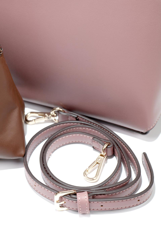 meliebiancoのAusten(Rose)ポーチ付き・ラウンドハンドバッグ/海外ファッション好きにオススメのインポートバッグとかばん、MelieBianco(メリービアンコ)のバッグやショルダーバッグ。ミニマルデザインのポーチ付きハンドバッグ。シンプルでコーデの邪魔をしない上品な雰囲気を醸し出すアイテムです。/main-17