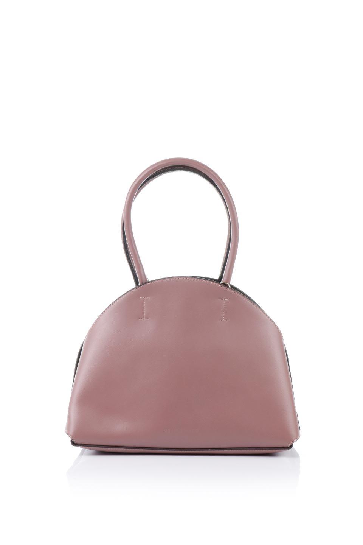 meliebiancoのAusten(Rose)ポーチ付き・ラウンドハンドバッグ/海外ファッション好きにオススメのインポートバッグとかばん、MelieBianco(メリービアンコ)のバッグやショルダーバッグ。ミニマルデザインのポーチ付きハンドバッグ。シンプルでコーデの邪魔をしない上品な雰囲気を醸し出すアイテムです。/main-4