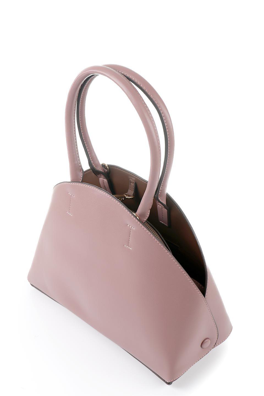 meliebiancoのAusten(Rose)ポーチ付き・ラウンドハンドバッグ/海外ファッション好きにオススメのインポートバッグとかばん、MelieBianco(メリービアンコ)のバッグやショルダーバッグ。ミニマルデザインのポーチ付きハンドバッグ。シンプルでコーデの邪魔をしない上品な雰囲気を醸し出すアイテムです。/main-5