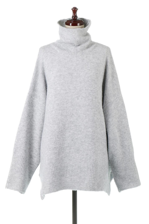 MixedKnitHighNeckPullOverTopミックス柄・ハイネックセーター大人カジュアルに最適な海外ファッションのothers(その他インポートアイテム)のトップスやニット・セーター。もちふわで軽やかなブークレーニットのプルオーバートップス。ドロップショルダーとルーズシルエットが今季らしく抜け感たっぷりな着こなしができます。