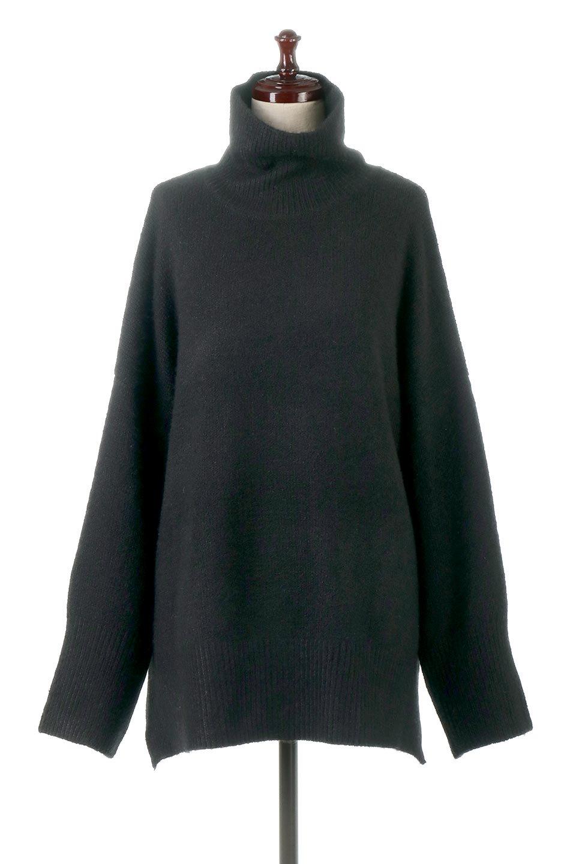 MixedKnitHighNeckPullOverTopミックス柄・ハイネックセーター大人カジュアルに最適な海外ファッションのothers(その他インポートアイテム)のトップスやニット・セーター。もちふわで軽やかなブークレーニットのプルオーバートップス。ドロップショルダーとルーズシルエットが今季らしく抜け感たっぷりな着こなしができます。/main-10