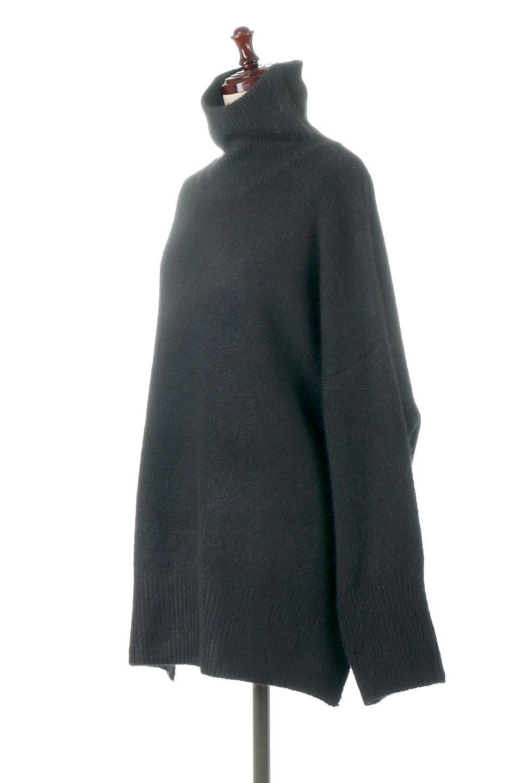 MixedKnitHighNeckPullOverTopミックス柄・ハイネックセーター大人カジュアルに最適な海外ファッションのothers(その他インポートアイテム)のトップスやニット・セーター。もちふわで軽やかなブークレーニットのプルオーバートップス。ドロップショルダーとルーズシルエットが今季らしく抜け感たっぷりな着こなしができます。/main-11