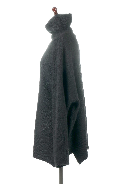 MixedKnitHighNeckPullOverTopミックス柄・ハイネックセーター大人カジュアルに最適な海外ファッションのothers(その他インポートアイテム)のトップスやニット・セーター。もちふわで軽やかなブークレーニットのプルオーバートップス。ドロップショルダーとルーズシルエットが今季らしく抜け感たっぷりな着こなしができます。/main-12