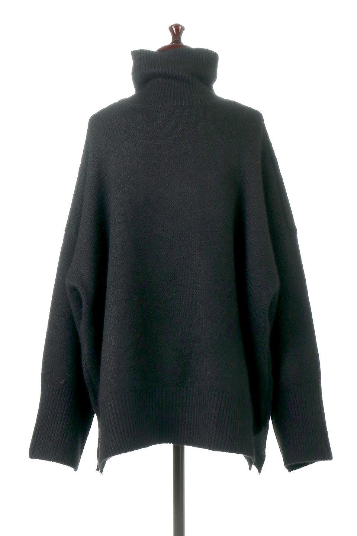 MixedKnitHighNeckPullOverTopミックス柄・ハイネックセーター大人カジュアルに最適な海外ファッションのothers(その他インポートアイテム)のトップスやニット・セーター。もちふわで軽やかなブークレーニットのプルオーバートップス。ドロップショルダーとルーズシルエットが今季らしく抜け感たっぷりな着こなしができます。/main-14