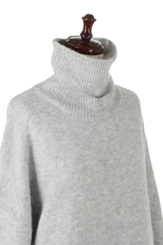 MixedKnitHighNeckPullOverTopミックス柄・ハイネックセーター大人カジュアルに最適な海外ファッションのothers(その他インポートアイテム)のトップスやニット・セーター。もちふわで軽やかなブークレーニットのプルオーバートップス。ドロップショルダーとルーズシルエットが今季らしく抜け感たっぷりな着こなしができます。/main-15
