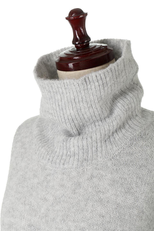 MixedKnitHighNeckPullOverTopミックス柄・ハイネックセーター大人カジュアルに最適な海外ファッションのothers(その他インポートアイテム)のトップスやニット・セーター。もちふわで軽やかなブークレーニットのプルオーバートップス。ドロップショルダーとルーズシルエットが今季らしく抜け感たっぷりな着こなしができます。/main-16
