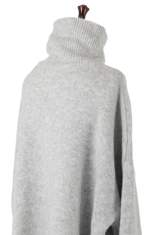 MixedKnitHighNeckPullOverTopミックス柄・ハイネックセーター大人カジュアルに最適な海外ファッションのothers(その他インポートアイテム)のトップスやニット・セーター。もちふわで軽やかなブークレーニットのプルオーバートップス。ドロップショルダーとルーズシルエットが今季らしく抜け感たっぷりな着こなしができます。/main-17