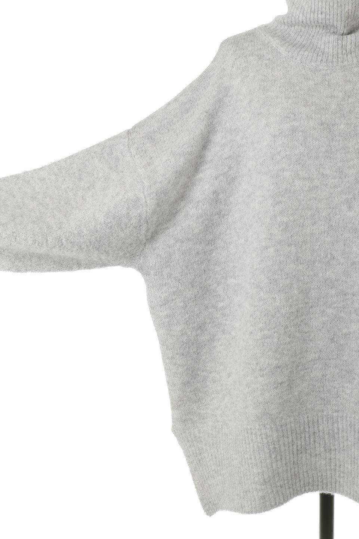MixedKnitHighNeckPullOverTopミックス柄・ハイネックセーター大人カジュアルに最適な海外ファッションのothers(その他インポートアイテム)のトップスやニット・セーター。もちふわで軽やかなブークレーニットのプルオーバートップス。ドロップショルダーとルーズシルエットが今季らしく抜け感たっぷりな着こなしができます。/main-19