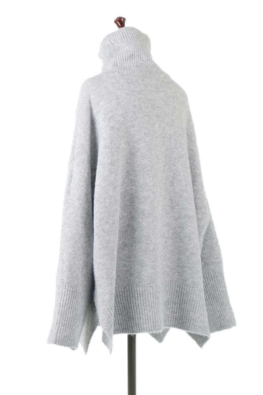 MixedKnitHighNeckPullOverTopミックス柄・ハイネックセーター大人カジュアルに最適な海外ファッションのothers(その他インポートアイテム)のトップスやニット・セーター。もちふわで軽やかなブークレーニットのプルオーバートップス。ドロップショルダーとルーズシルエットが今季らしく抜け感たっぷりな着こなしができます。/main-3