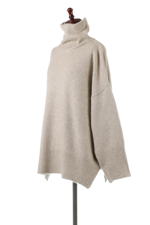 MixedKnitHighNeckPullOverTopミックス柄・ハイネックセーター大人カジュアルに最適な海外ファッションのothers(その他インポートアイテム)のトップスやニット・セーター。もちふわで軽やかなブークレーニットのプルオーバートップス。ドロップショルダーとルーズシルエットが今季らしく抜け感たっぷりな着こなしができます。/main-6