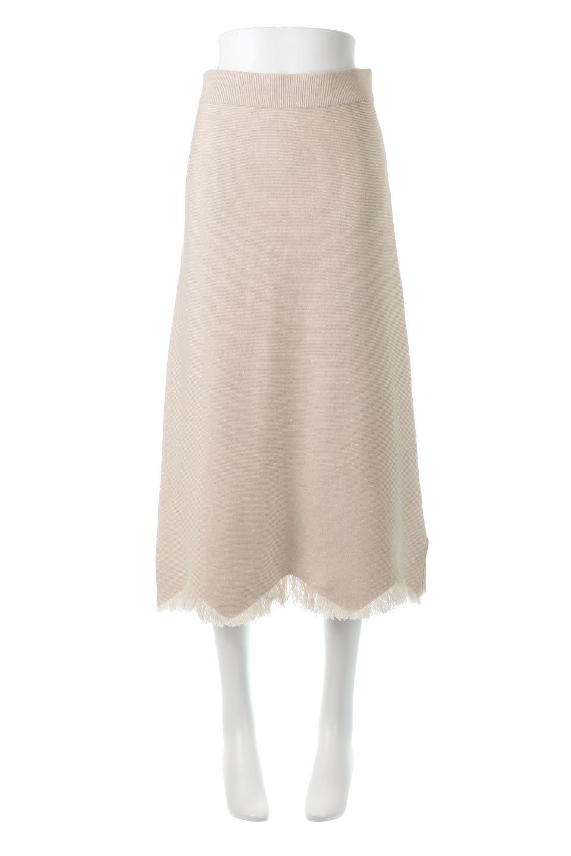 FringeHemKnitLongSkirt裾フリンジ・ニットスカート大人カジュアルに最適な海外ファッションのothers(その他インポートアイテム)のボトムやスカート。裾のフリンジデザインが素敵なニットスカート。フィット&フレアなデザインでIラインを強調して、スタイルアップ効果を引き出してくれます。