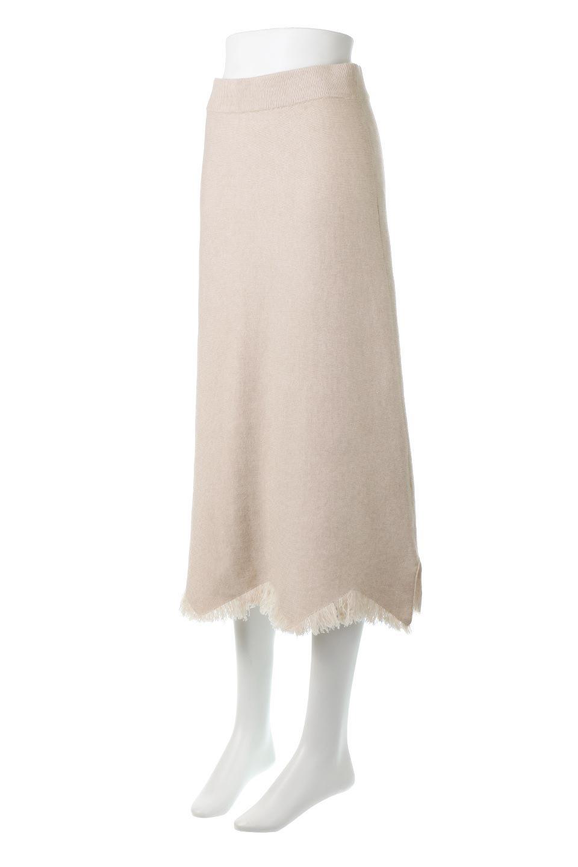 FringeHemKnitLongSkirt裾フリンジ・ニットスカート大人カジュアルに最適な海外ファッションのothers(その他インポートアイテム)のボトムやスカート。裾のフリンジデザインが素敵なニットスカート。フィット&フレアなデザインでIラインを強調して、スタイルアップ効果を引き出してくれます。/main-1
