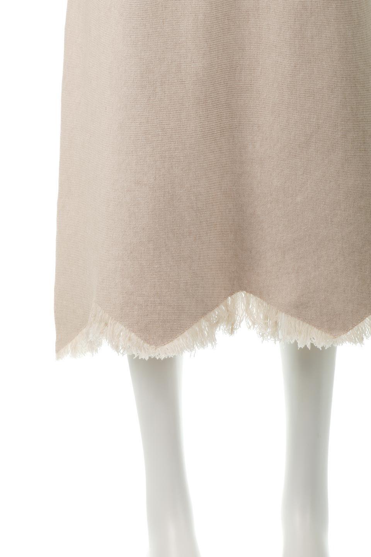 FringeHemKnitLongSkirt裾フリンジ・ニットスカート大人カジュアルに最適な海外ファッションのothers(その他インポートアイテム)のボトムやスカート。裾のフリンジデザインが素敵なニットスカート。フィット&フレアなデザインでIラインを強調して、スタイルアップ効果を引き出してくれます。/main-14