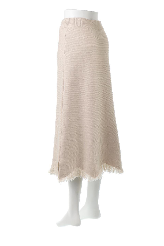 FringeHemKnitLongSkirt裾フリンジ・ニットスカート大人カジュアルに最適な海外ファッションのothers(その他インポートアイテム)のボトムやスカート。裾のフリンジデザインが素敵なニットスカート。フィット&フレアなデザインでIラインを強調して、スタイルアップ効果を引き出してくれます。/main-3