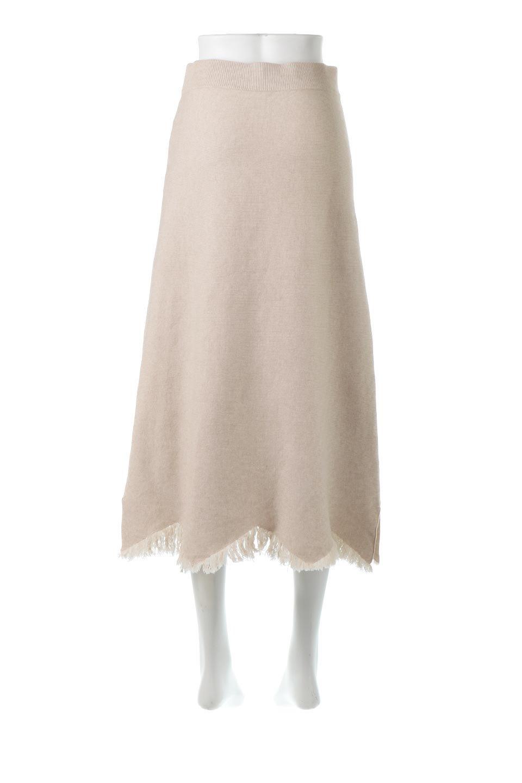 FringeHemKnitLongSkirt裾フリンジ・ニットスカート大人カジュアルに最適な海外ファッションのothers(その他インポートアイテム)のボトムやスカート。裾のフリンジデザインが素敵なニットスカート。フィット&フレアなデザインでIラインを強調して、スタイルアップ効果を引き出してくれます。/main-4