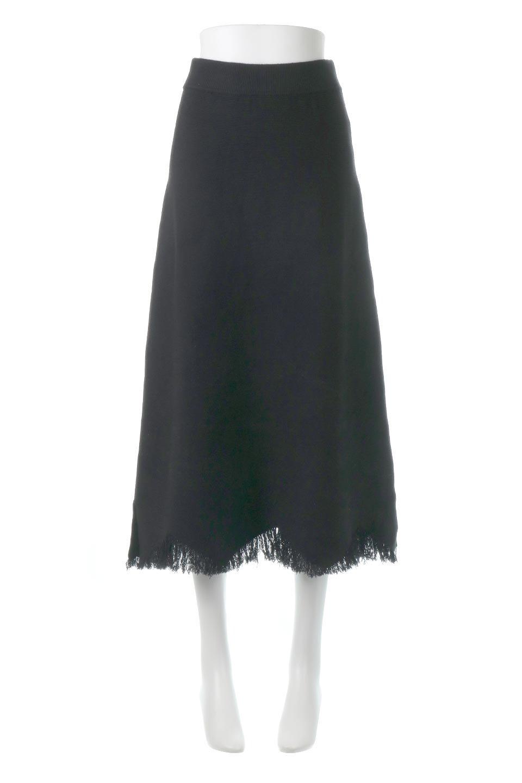 FringeHemKnitLongSkirt裾フリンジ・ニットスカート大人カジュアルに最適な海外ファッションのothers(その他インポートアイテム)のボトムやスカート。裾のフリンジデザインが素敵なニットスカート。フィット&フレアなデザインでIラインを強調して、スタイルアップ効果を引き出してくれます。/main-5