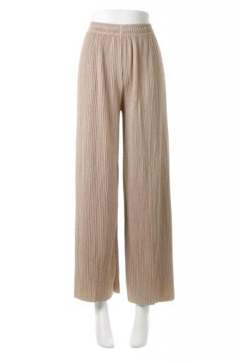 海外ファッションや大人カジュアルに最適なインポートセレクトアイテムのWide Leg Pleated Cut Off Pants 総プリーツ・カットワイドパンツ